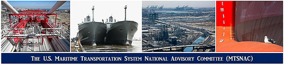 A M.T.S.N.A.C. banner showing ports and large vessels.