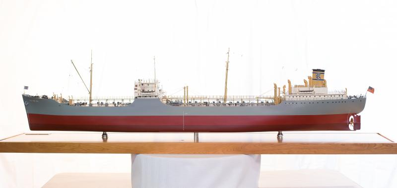 Starboard view of the model