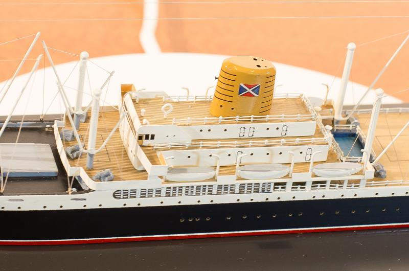 Port view of the model, with a focus on the boat deck